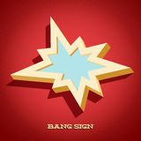 Retro card with explosion sign Royalty Free Stock Photo