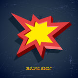 Retro card with explosion sign Royalty Free Stock Images