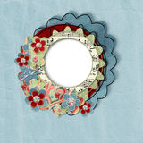 Retro card with flowers Royalty Free Stock Photos
