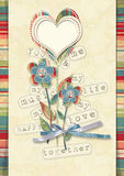 Retro card with flowers Royalty Free Stock Photography