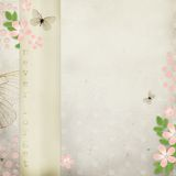 Retro card with flowers Stock Photos