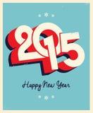 2015 Retro Card. 2015 Happy New Year Retro Card royalty free illustration