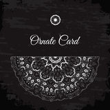 Retro card or invitation. Beautiful vintage ornament. Decorative Royalty Free Stock Image