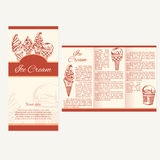 Retro card or poster with ice cream. Abstract brochure design. V Stock Photography