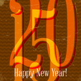 Retro card with 2015 sign on scratched paper Royalty Free Stock Image
