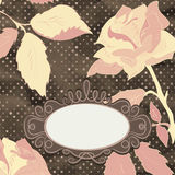 Retro card with stylized rose. Stock Photography