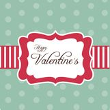 Retro card for Valentine's Day. Illustration Royalty Free Stock Images