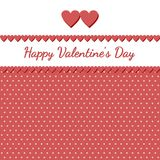 Retro card for Valentine's day. Greeting card for Valentine's day Stock Image