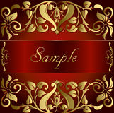 Vector vintage gold background floral Royalty Free Stock Photos