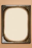 Retro cardboard photoframe Stock Image