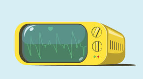 Retro Cardiac monitor Royalty Free Stock Photography