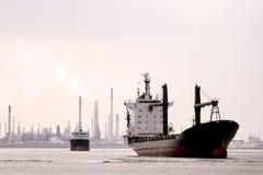 Retro Cargo Ship Royalty Free Stock Images