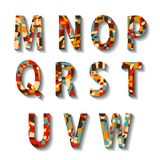 Retro Carnival Alphabet with Numbers Stock Photography