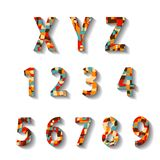 Retro Carnival Alphabet with Numbers Royalty Free Stock Photography