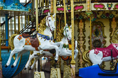 Retro carousel. Horse in France stock photography