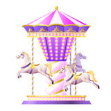 Retro Carousel Illustration Royalty Free Stock Image