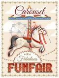 Retro Carousel Poster Stock Photo