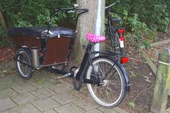Retro tricycle for transport, Holland Stock Photos