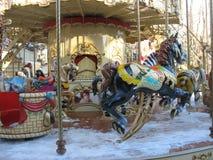 Retro carrousel Royalty-vrije Stock Foto