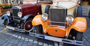 Retro cars Stock Image