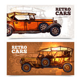 Retro Cars Banner Set Royalty Free Stock Photo