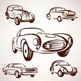 Retro cars  collection design elements Stock Image