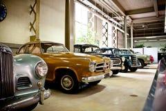 Retro cars on display Stock Image