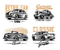 Retro cars emblem Stock Images