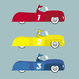 Retro Cars Illustration. 1950's style cars in retro colors Royalty Free Stock Images