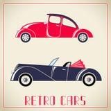 Retro cars  illustration Royalty Free Stock Photos