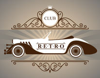 Retro cars logo. In vector Royalty Free Stock Image