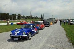 Retro Cars Parade Stock Photography
