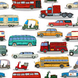 Retro cars  pattern. Cartoon retro cars seamless pattern Royalty Free Stock Images