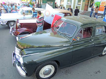 Retro cars Pobeda, GAZ M1 and Chaika Stock Photography