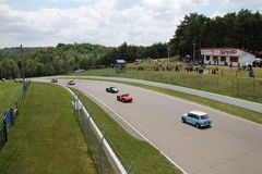 Retro Cars Races Stock Photo
