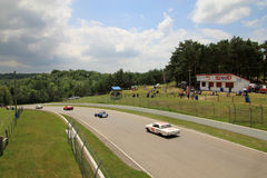 Retro Cars Races Royalty Free Stock Photo