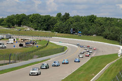 Retro Cars Races Stock Image