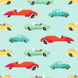 Retro cars seamless pattern Royalty Free Stock Image