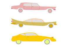 Retro cars set. Stock Photography