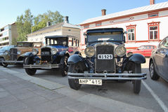 Retro Cars. Uusikaupunki, Finland - August, 9, 2014: Three well restored Nash club cars stock photography