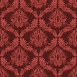Retro carta da parati del damasco senza cuciture nei colori rossi illustrazione vettoriale