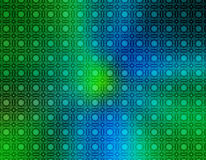 Retro carta da parati di verde blu Illustrazione di Stock