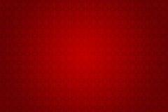 Retro carta da parati rossa con progettazione floreale vittoriana Immagine Stock