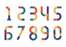 Retro carta di colore di numeri Immagini Stock