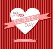 Retro carta di San Valentino Fotografia Stock