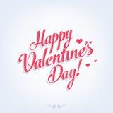 Retro carta di San Valentino felice Immagini Stock