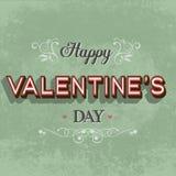 Retro carta felice di San Valentino Fotografie Stock Libere da Diritti
