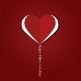 Retro carta felice di San Valentino Immagine Stock Libera da Diritti