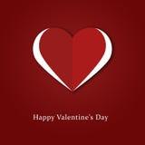Retro carta felice di San Valentino Fotografie Stock