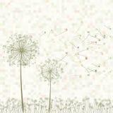 Retro cartolina d'auguri con i fiori. ENV 8 illustrazione di stock
